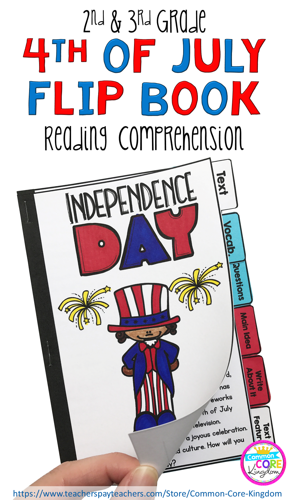 4th Of July Reading Comprehension Flip Book Activity For 2nd 3rd Grade Differentiated Non Fiction Passages Fo Flip Book Activities Book Activities Flip Book [ 1701 x 983 Pixel ]