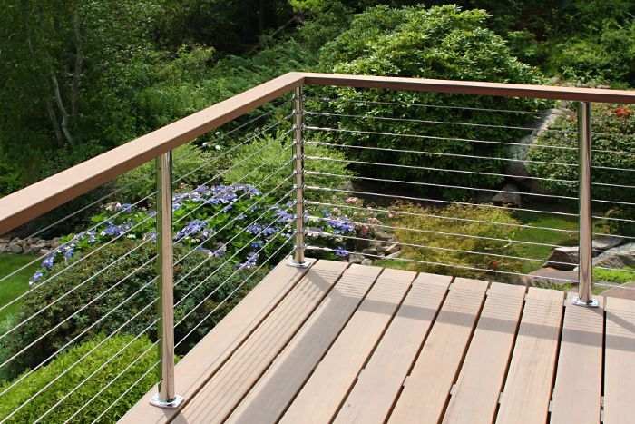 Cable Deck Railing Cost Photo Gallery Stainless Steel System With