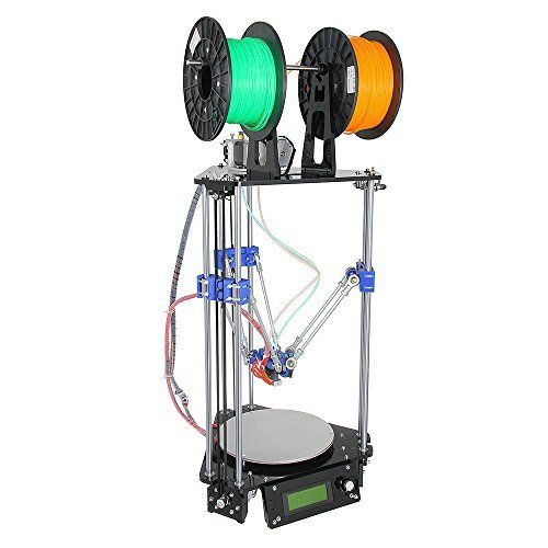 Geeetech Upgraded Metal Rostock Mini G2s Pro Dual Extruder Auto-level 3D Printer
