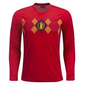 Ls Home 2018 world cup jersey belgium ls home replica red shirt [bfc422
