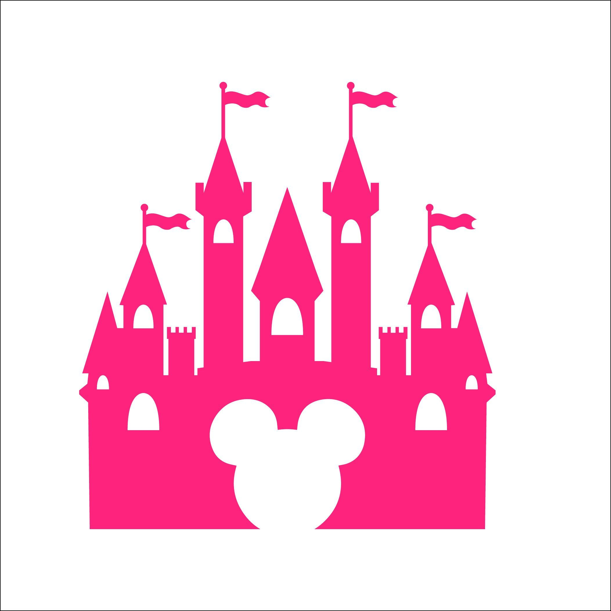 Free Disney Svg Files Disney silhouette, Disney castle