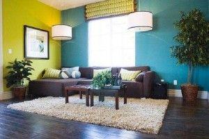 Foto Contoh Kombinasi Warna Cat Ruang Tamu Dengan Furniture Lat Biru Kuning Gambar 12 300x200