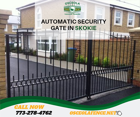 Automatic Security Gate Chicago Fence Company Fencing Companies Automatic Gate Gate