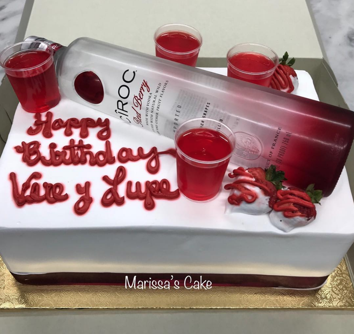 Super Ciroc Vodka Custom Birthday Cake Marissascake Artmarissas Funny Birthday Cards Online Fluifree Goldxyz