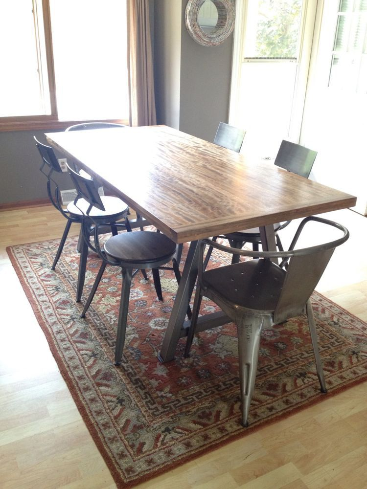 FLAT BLACK AFrame Metal Table Legs Set Diy Build your by ...