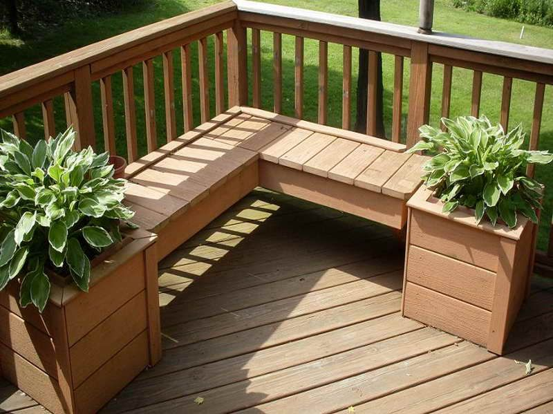 wood deck designs with plant decorjpg 800 - Wood Deck Design Ideas