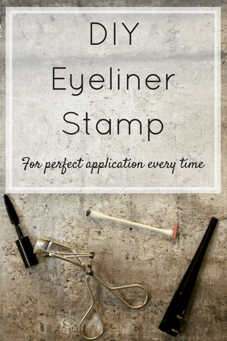 DIY Eyeliner Stamp For Perfect Application