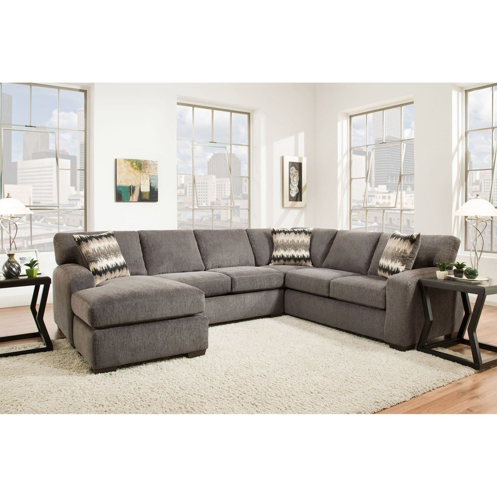 Chelsea Home Furniture Twist 2 Piece Sectional Perth - Living Room Chairs Perth