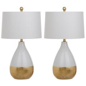 safavieh kingship 24 in h white and gold table lamp white gold rh in pinterest com