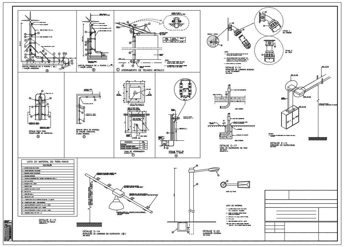 Electrical Installation Project Plan Drawing Details Are