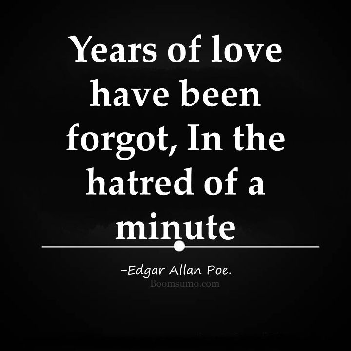Sad Quotes About Life Prepossessing Sad Life Quotes  Hatred Of A Minute Years Of Love Forgot