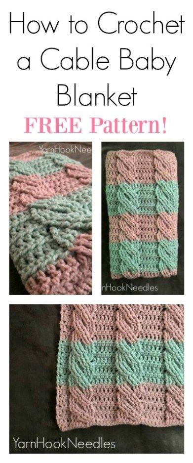 Ever wanted to try and make one of those lovely cable blankets you see online? Check out this FREE and easy cable crochet pattern! It's easy!