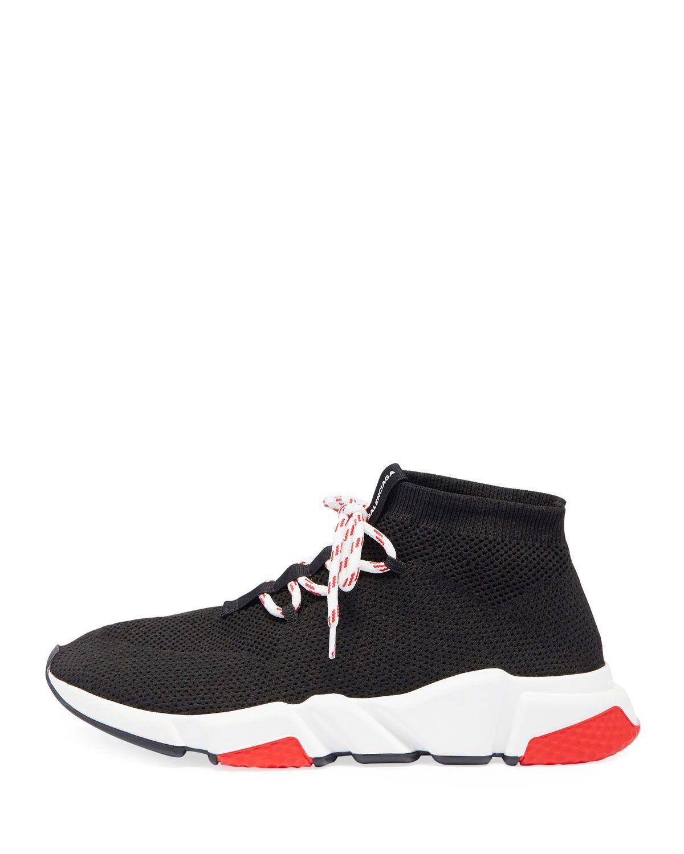 c8449884add1 Balenciaga Mens Speed Lace-Up Mesh Sneaker