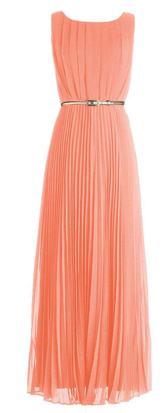 Abendkleid lang coral