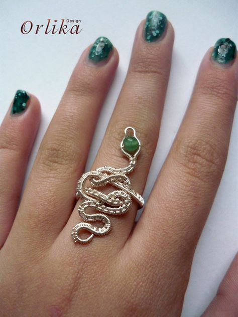Photo of Items similar to Wire wrapped Snake Ring on Etsy