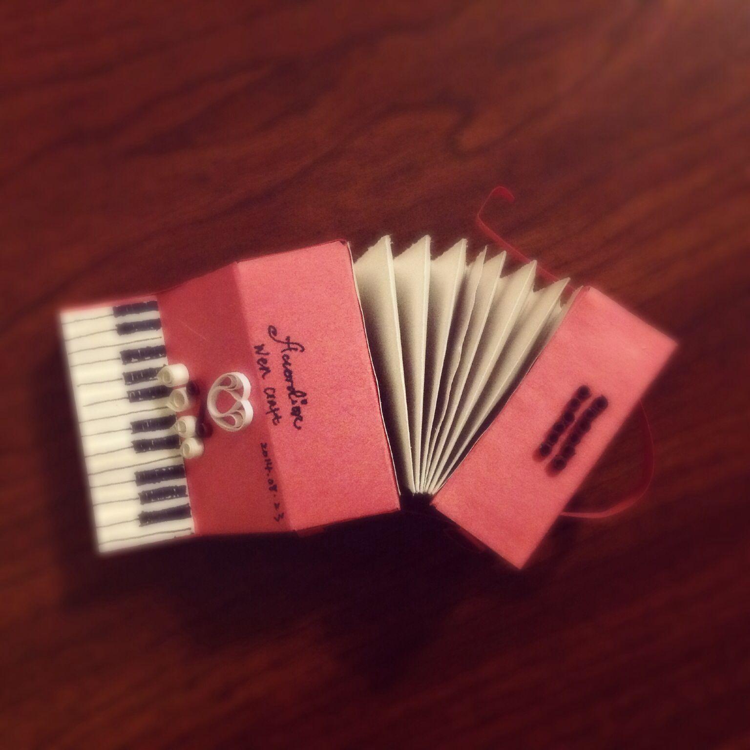 My handmade accordion. #handmade #paperart  #accordion  #DIY #music