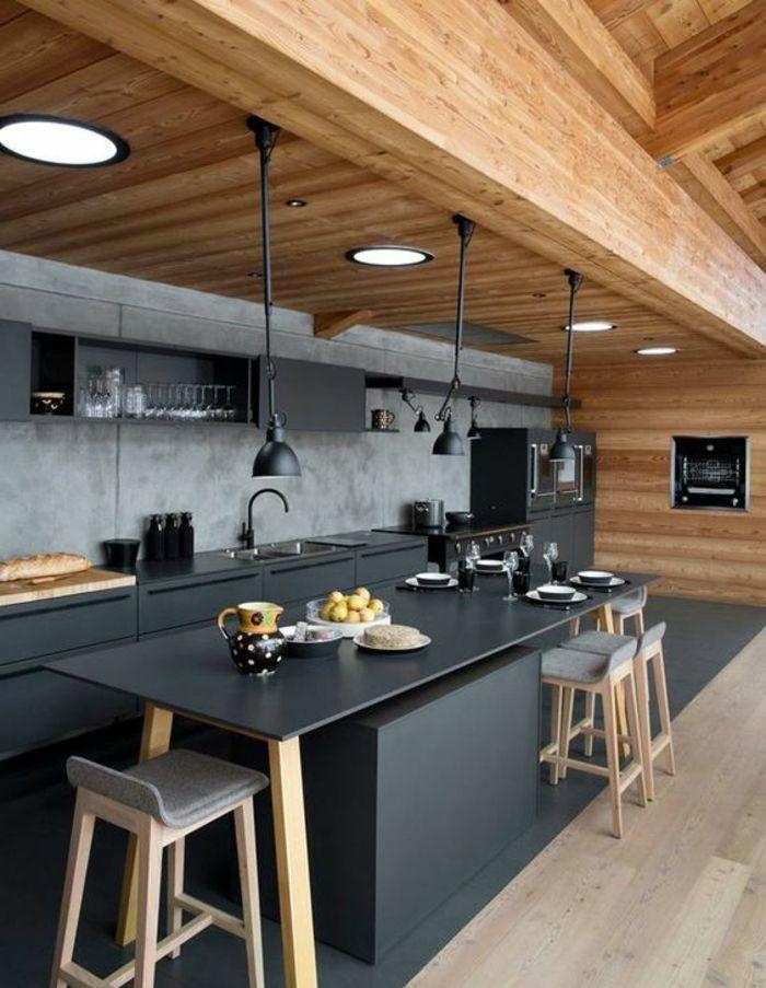 1001 id es pour repeindre sa cuisine les couleurs phares du 2018 et les combinaisons. Black Bedroom Furniture Sets. Home Design Ideas