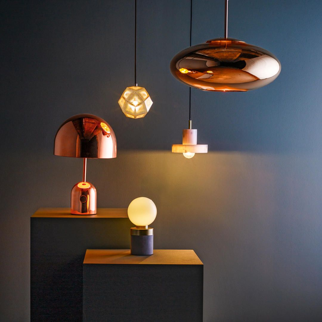 Tom Dixon Copper Wide Pendant Ceiling Light 50cm Ceiling Pendant Lights Ceiling Lights Tom Dixon Copper