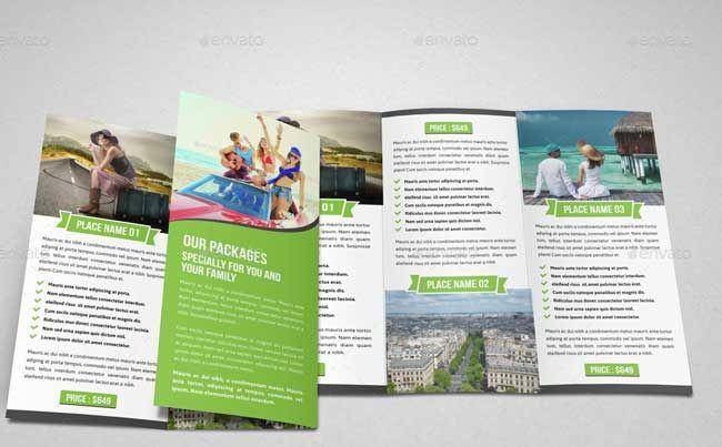 Travel Trifold Brochure Indesign Template V3 Flyer Inspiration