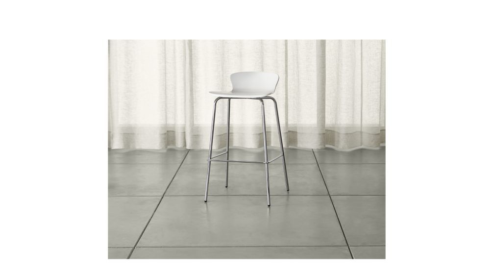 Felix White Bar Stool | Crate and Barrel
