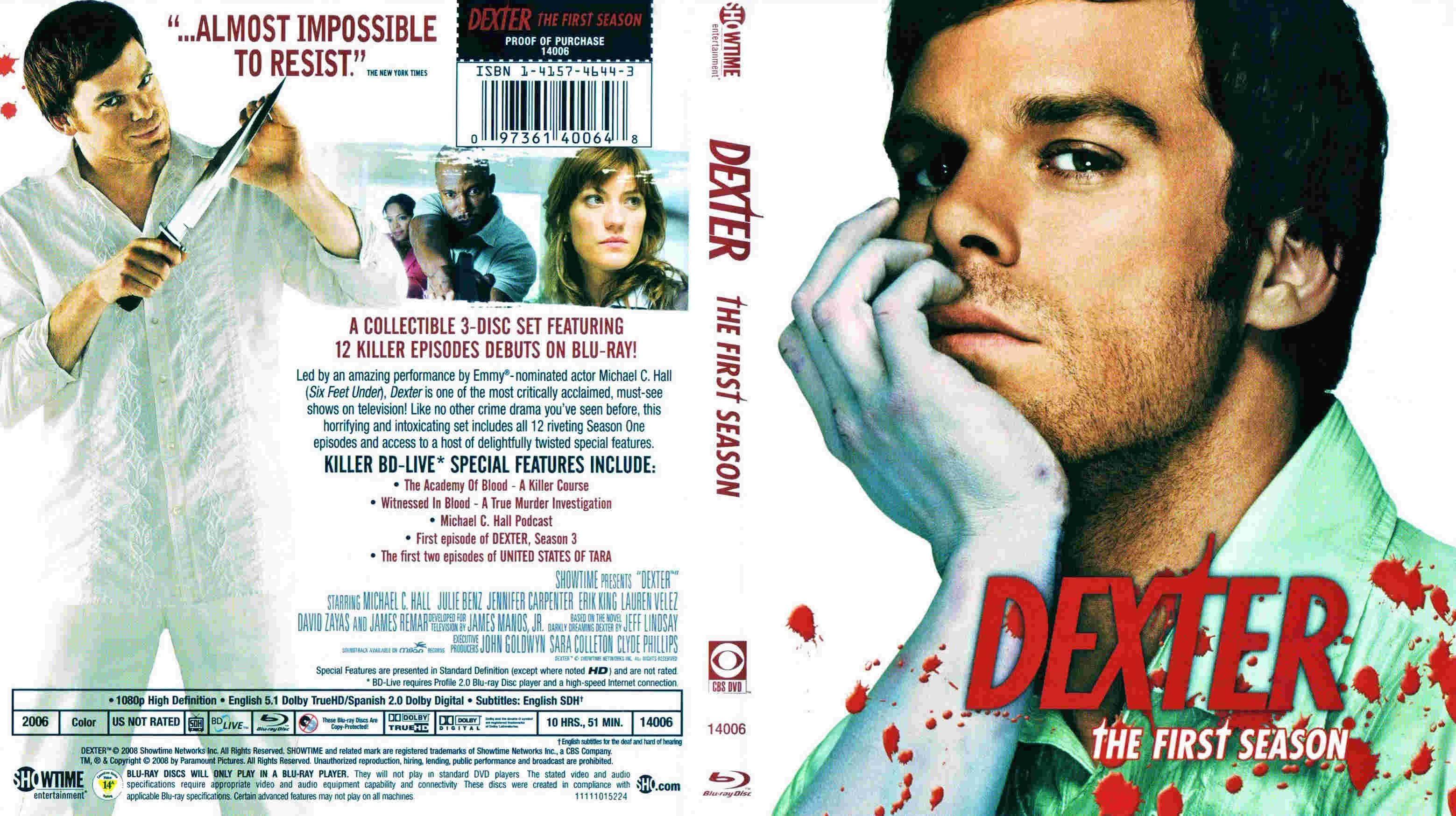 Dexter First Season Blu Ray Ntsc Cover Breaking Bad Seasons Dexter Seasons Breaking Bad Season 2