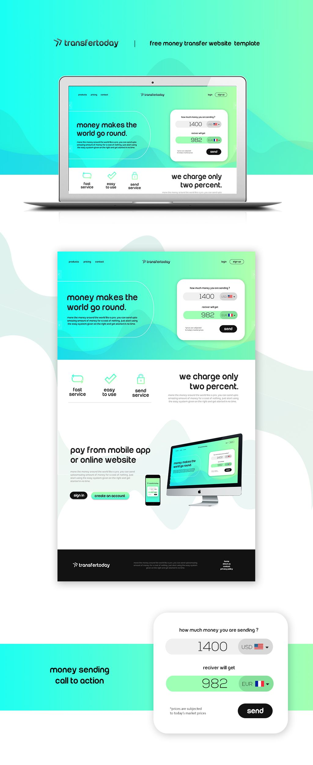 Money Transfer This Elegant Designed Template Is For Lication You Can Also Use Any Other Industry Customizing The
