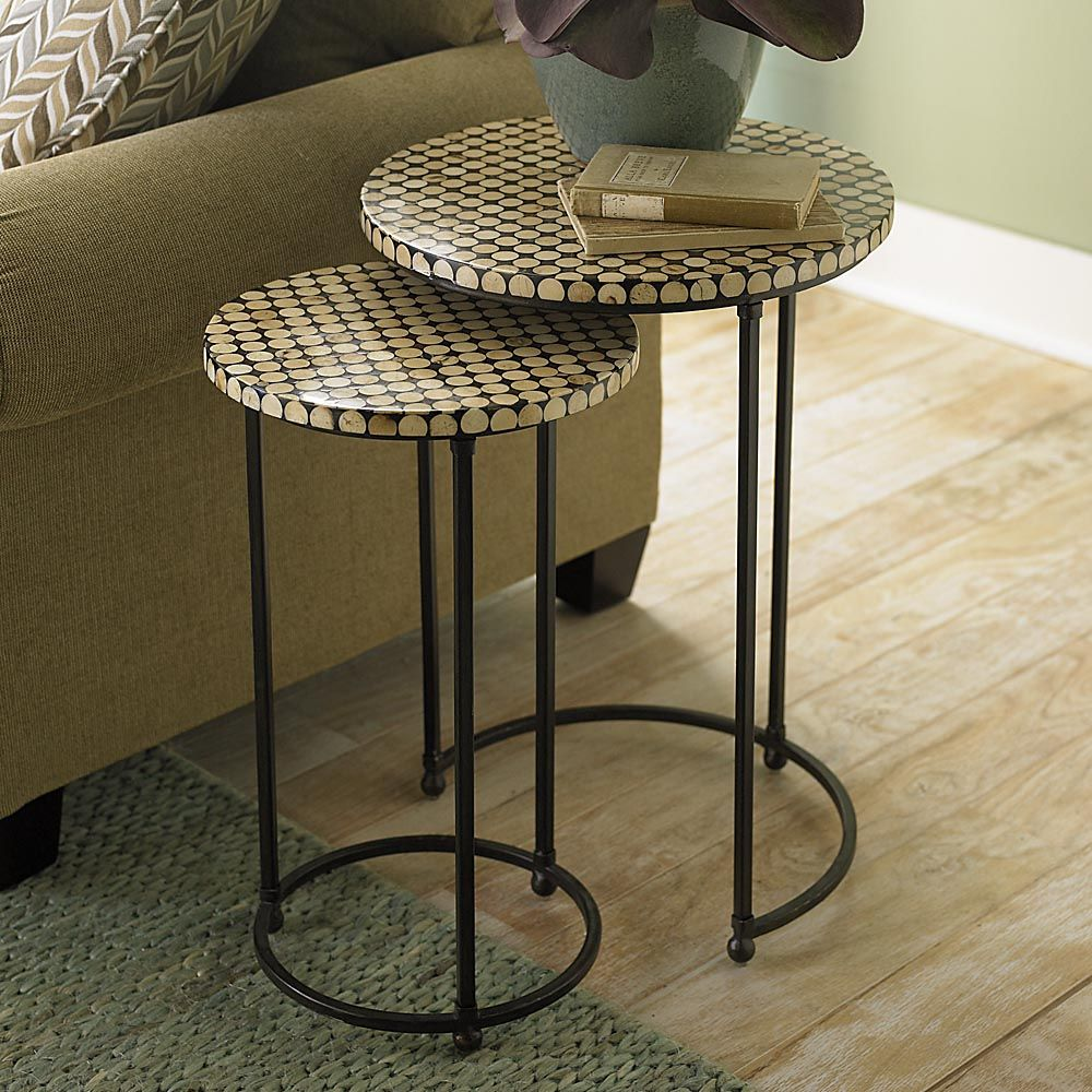 Discoveries Coco Bead Nesting Tables By Bassett Furniture.