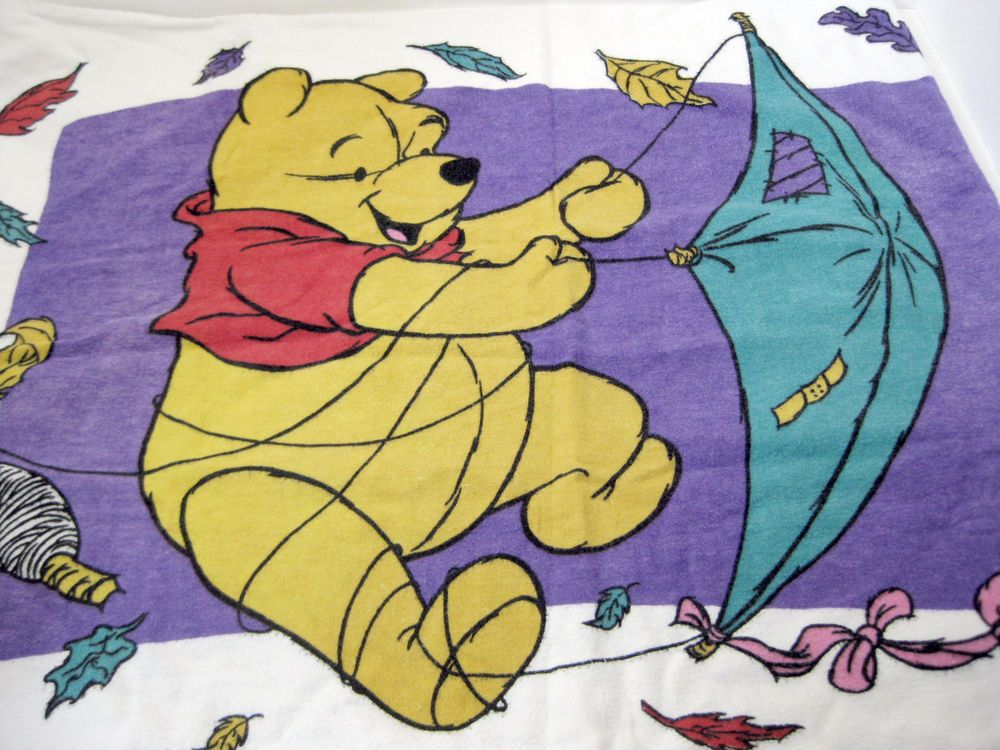 Vtg Winnie The Pooh Flying Kite Piglet Twin Size Flannel Sheet Set 3 Piece Set #Disney #Animated