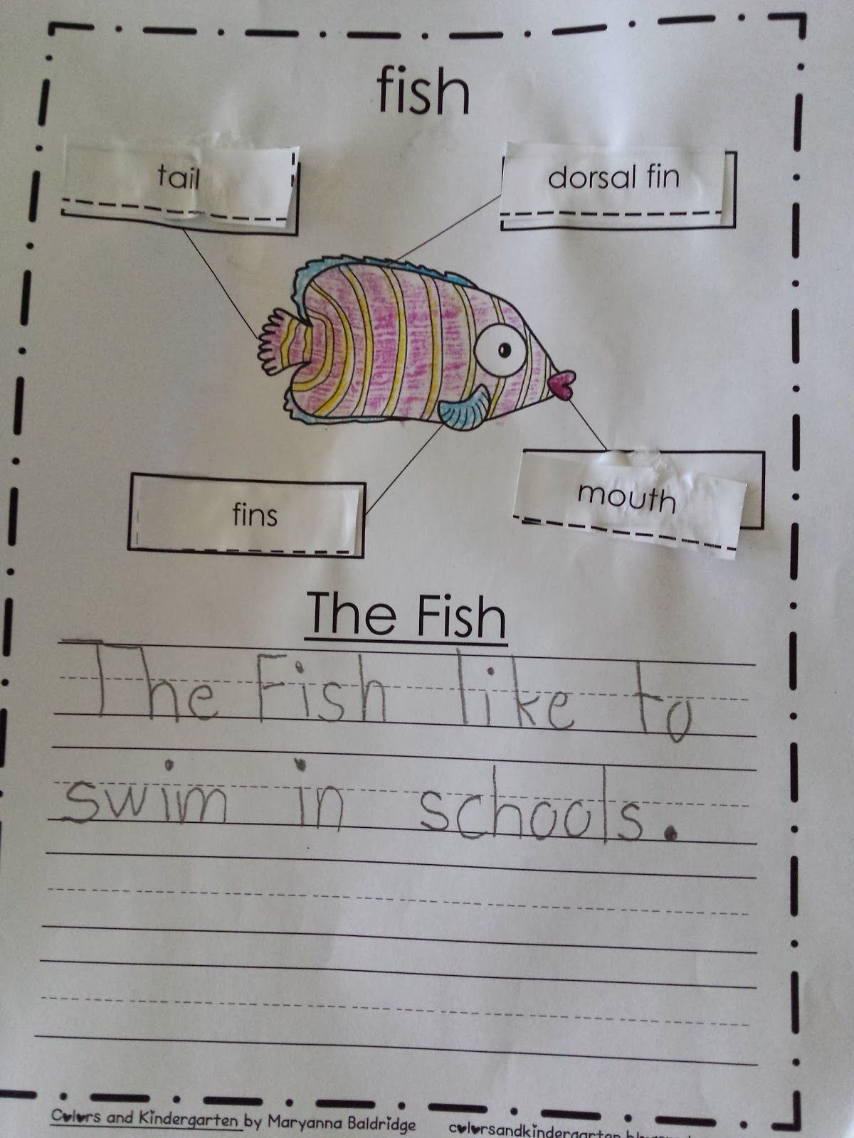 My Science Journal Ocean Pre K Kindergarten 1st Grade Science Get Your Students Writing About