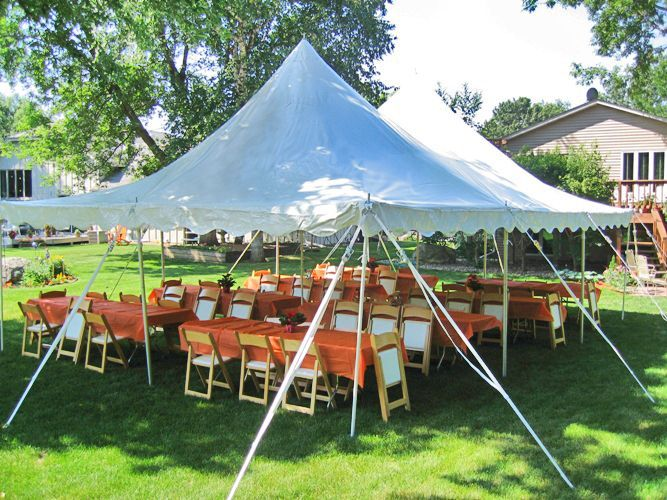 Banquet tables will run long side of tent; buffet table will run parallel with cake/ch&agne table and apps/drinks table offset at an angle. & graduation party set up | ... love a backyard party?! Hereu0027s a ...