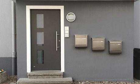 Türen Bielefeld alu haustür in edler optik vom fenster türen fachbetrieb