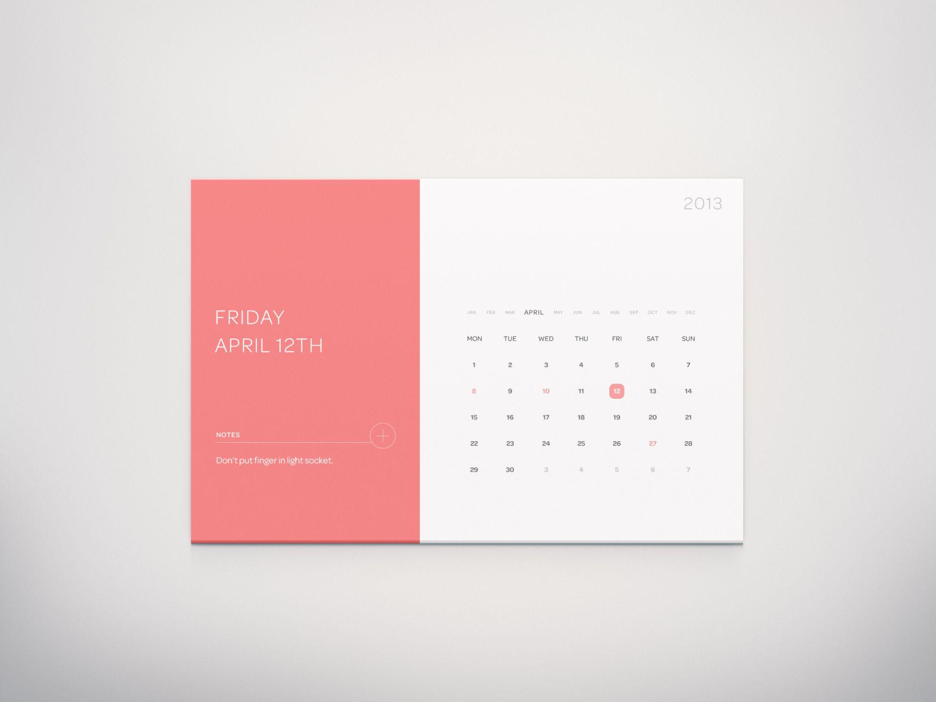 30 Beautiful Examples Of Flat Design Calendar Design Calendar