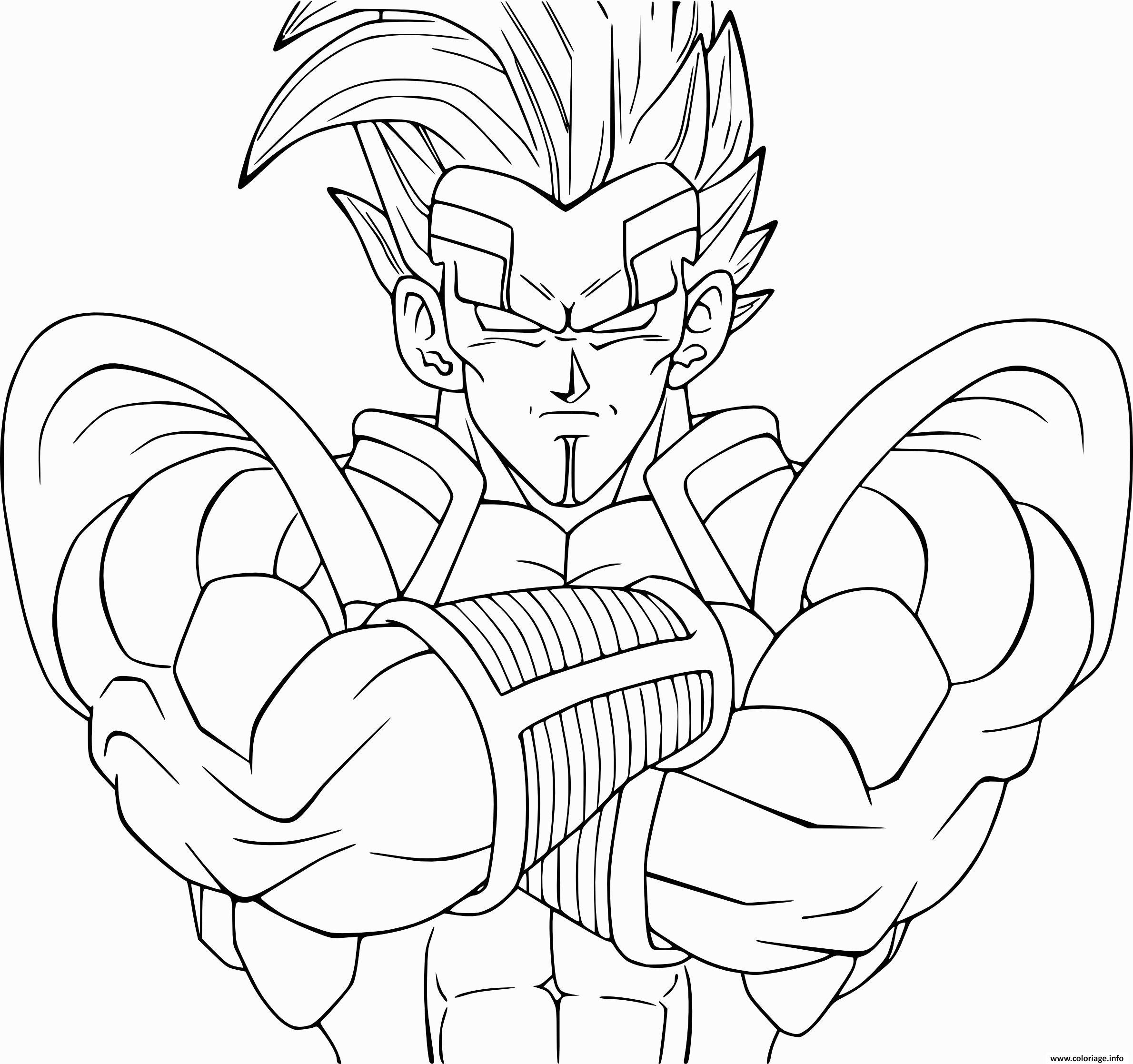 Coloriage Dragon Ball Vegeta