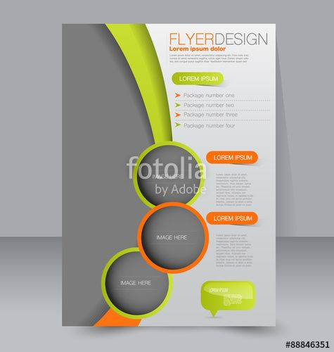 Вектор Flyer template Business brochure Editable A4 poster for - business presentation template