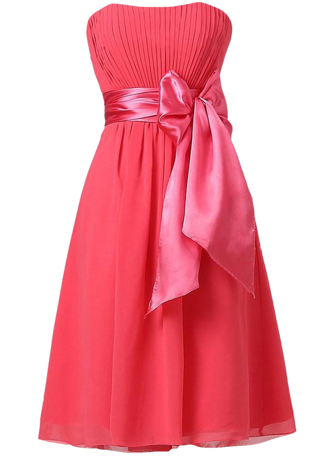 A-Line Strapless Bowknot Pleated Cocktail Party Bridesmaid Dress ...