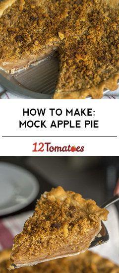 Depression-Era Mock Apple Pie #applepie