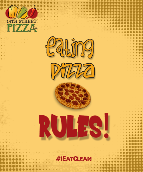 Eating Pizza, Rules! #14thStreetPizza #HungerEmergencies #IEatClean #Eatpizza #Fresh #Justforyou #Foodlove #Pizzalove #Pizzarules Dial111-36-36-36 or visit www.14thstreetpizza.com/orderonline