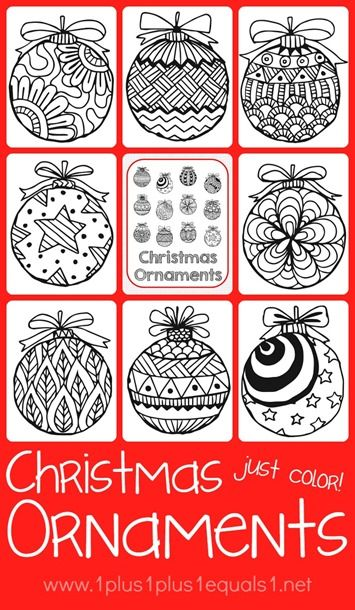 Christmas Ornaments Coloring | Christmas ornament, Ornament and Ladybird