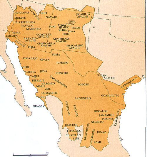 southwest native american map Southwest Tribes Native American Indian Tribes Native American
