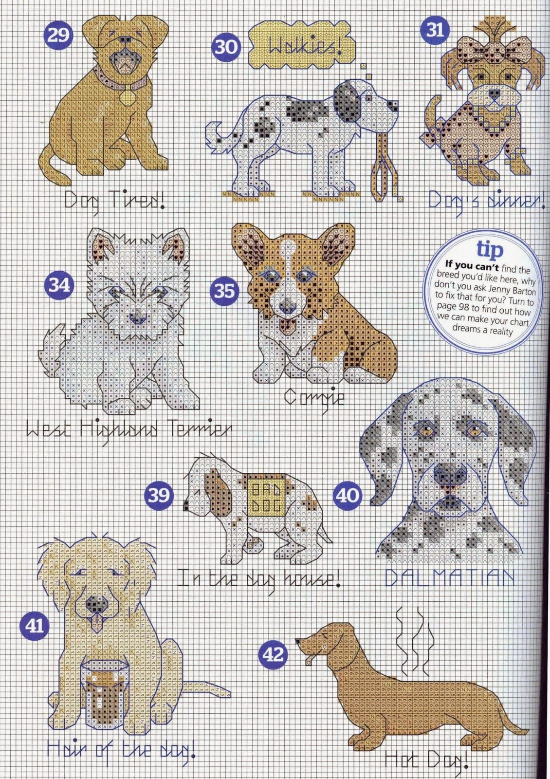 FREE POINT CROSS GRAPHICS: GRAPHICS MINI (84)   perros   Punto de ...