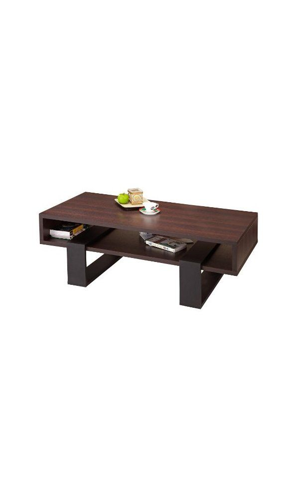 Iohomes Monroe Rectangular Coffee Table Walnut And Black Deal Price 159 99 From