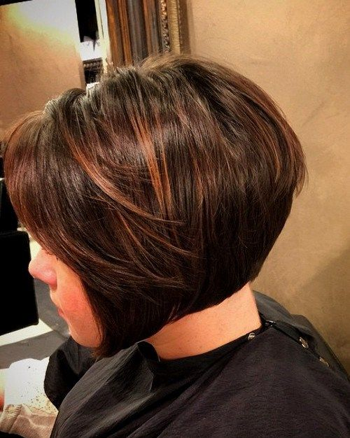 highlights styles for hair chocolate bob hairstyle with brown highlights bobs 4517