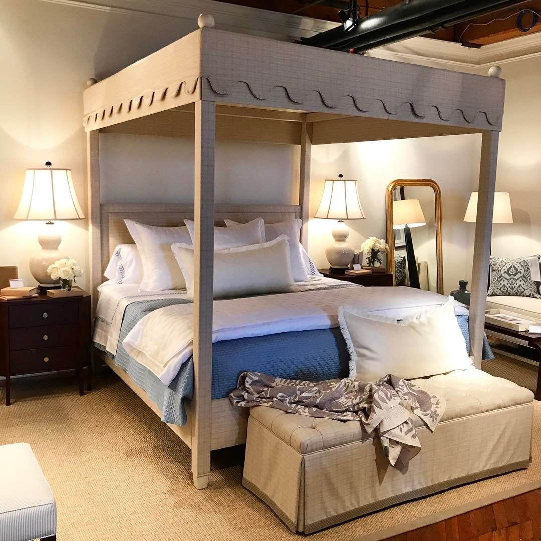 This Highland House canopy bed is divine #hpmkt #graysonandleighconquerhp #graysonprattinteriors #interiordesign @highlandhousefurniture