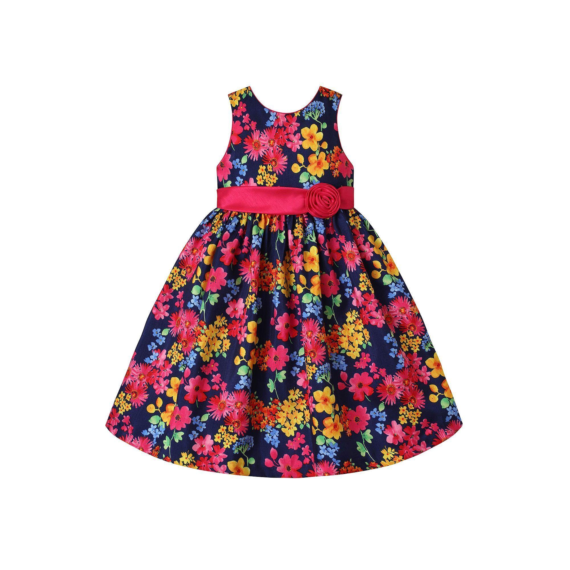 American Princess Girls 7-16 American Princess Navy (Blue) Floral Dress