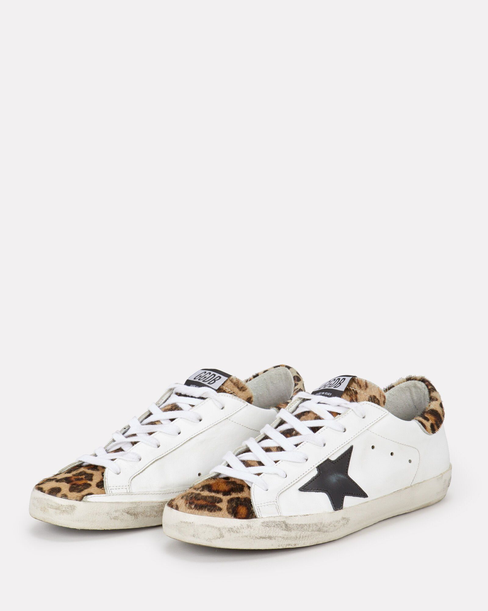 adidas originals superstar trainers with leopard print trim