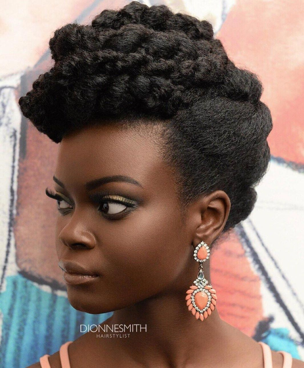 Updo With Twists For Natural Hair #NaturalHairCare