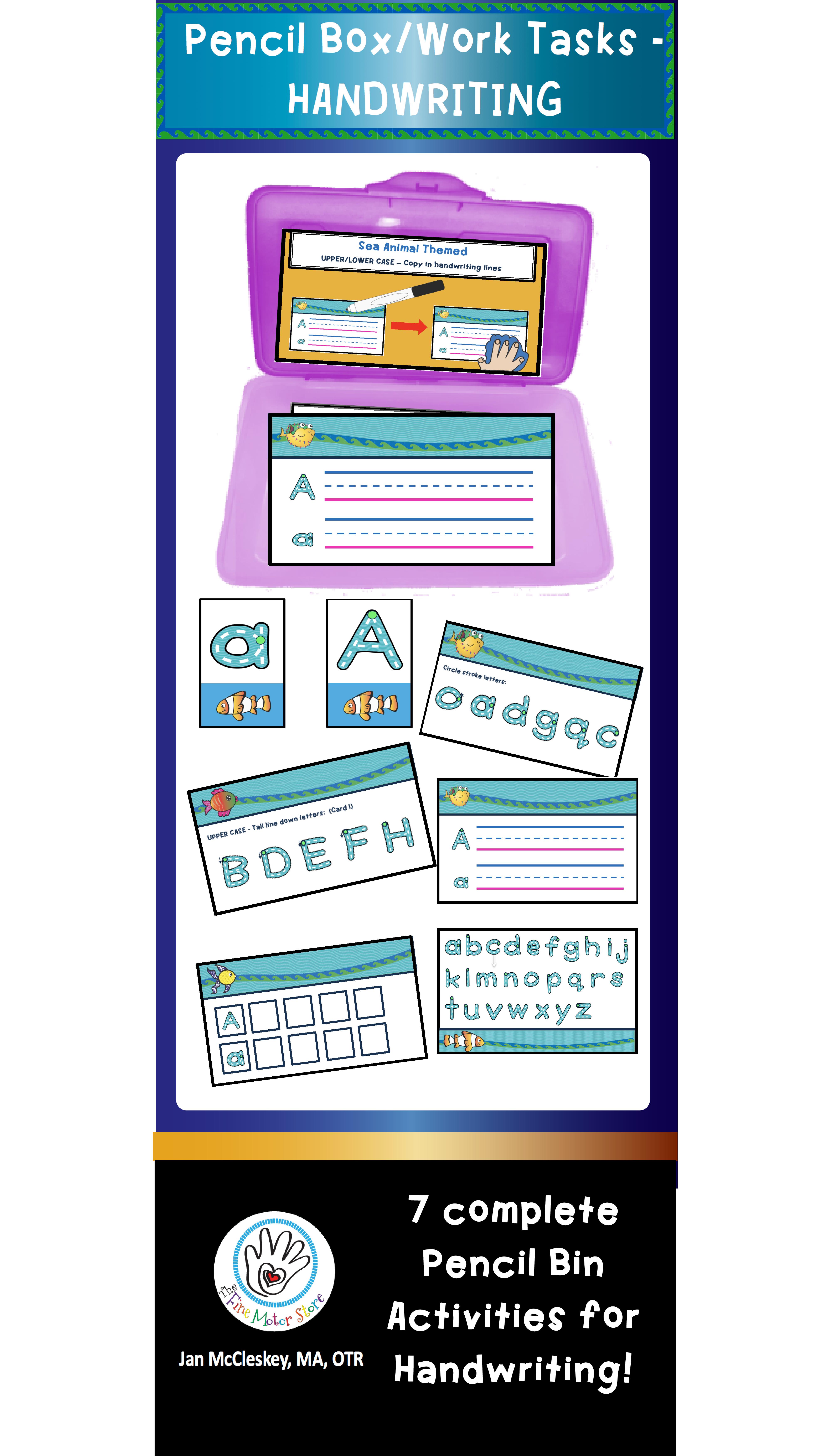 Learn To Write Abc S Sea Animal Themed Handwriting Task