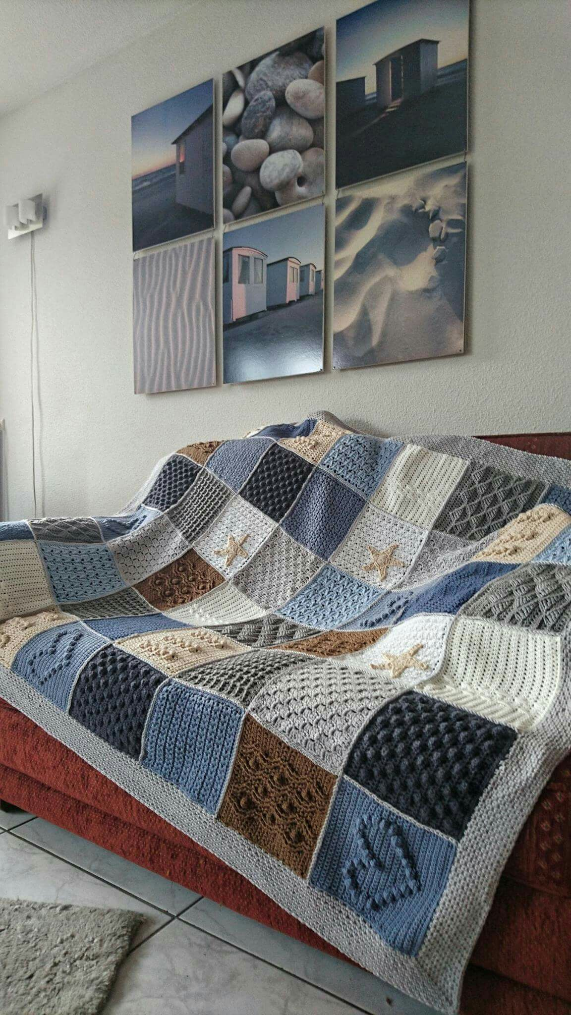 Scheepjes Blanket CAL 2016 (a variation) - In loving memory of the designer Marinke Slump (Wink)- Free Pattern available on Scheepjes Yarn Website #strandhuis