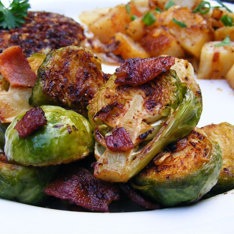 Quick Brussels And Bacon Recipe Meatloaf Side Dishes Easy Thanksgiving Recipes Meatloaf Dinner