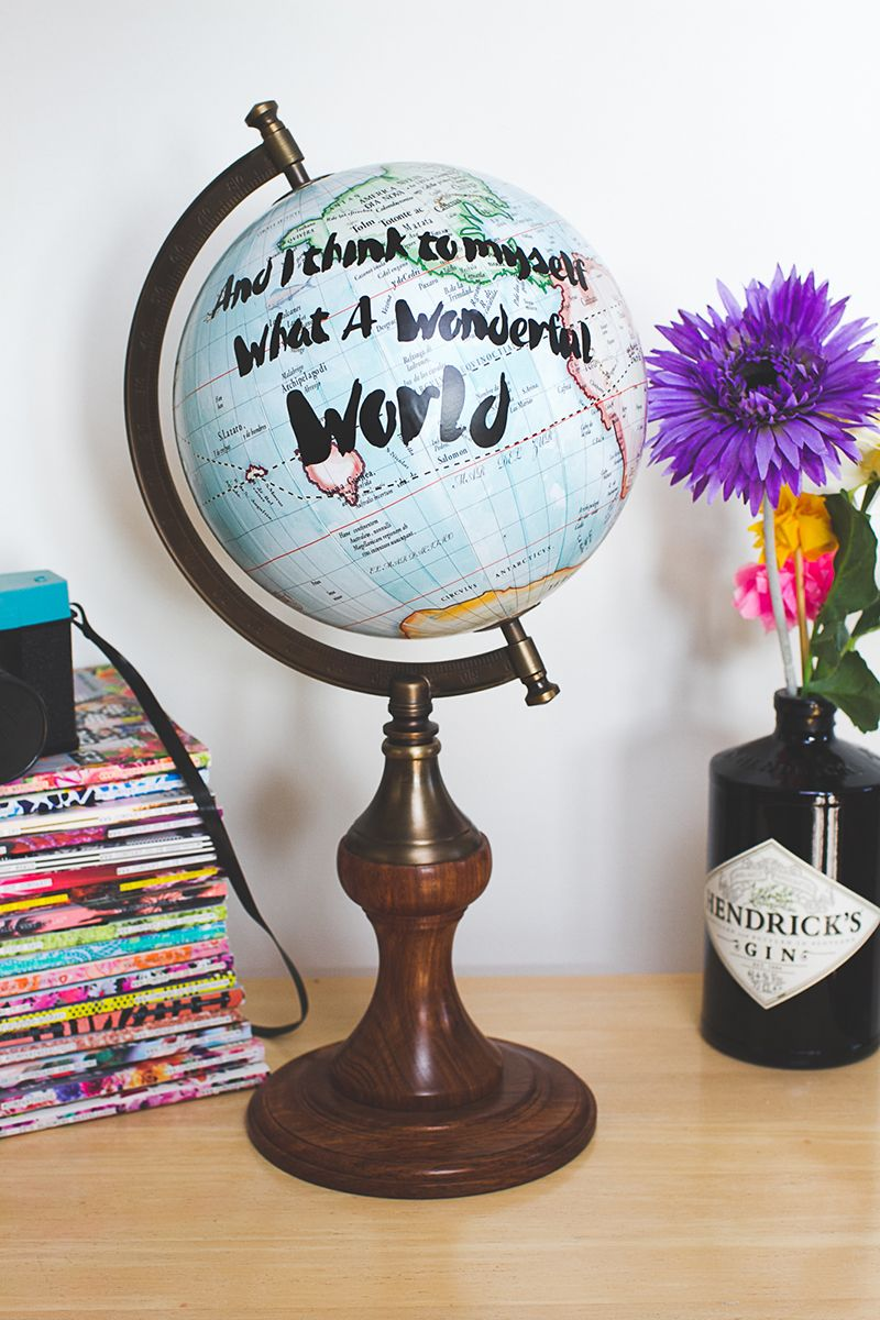 Diy Quote Globe Perfect For Centre Pieces Decor Or Even The Use In Your Own Home